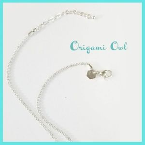 """Origami Owl~ 24"""" with extender High Polish Chain"""